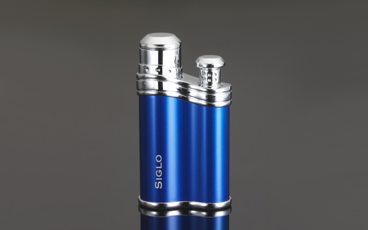 Bean-shaped Lighter - Metallic Dark Blue,世紀藍色雪茄火槍/打火機