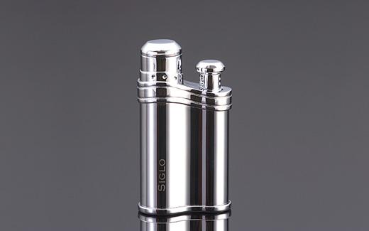 Bean-shaped Lighter - POLISH SLIVER,世紀銀色雪茄火槍打火機