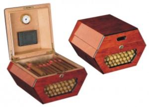 六邊形雪茄盒雪茄保濕箱,Hexagon Design HumidorSK-1030